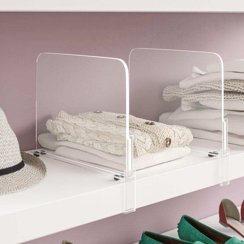 Caseville Acrylic Shelf Dividers Closet Shelves Organizer Separator