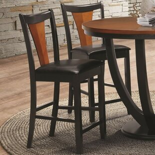 Yonker Two-Tone Serene Bar Stool (Set of 2) by Bloomsbury Market