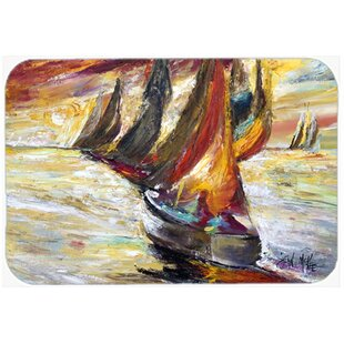 Sails Sailboat Glass Cutting Board By Caroline's Treasures