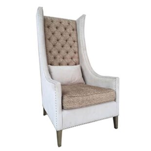 One Allium Way Lars Empress Wingback Chair