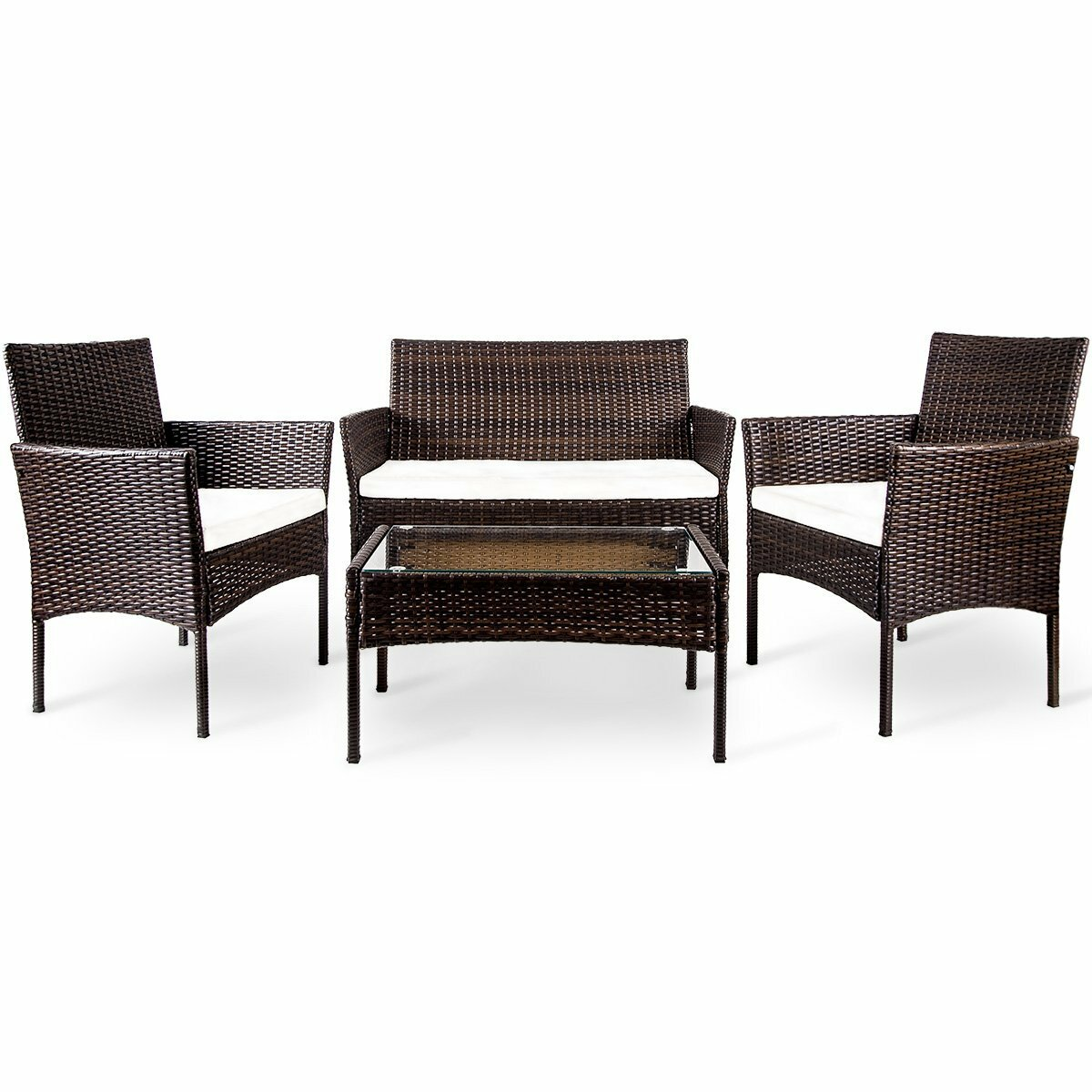 Moro 4 Piece Rattan Sofa Seating Group With Cushions Reviews