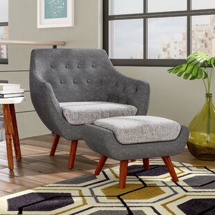 Braydon Armchair and Ottoman by George Oliver