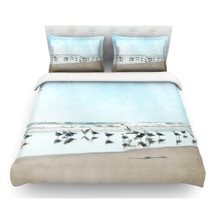 Sea Blue by Sylvia Cook Coastal Featherweight Duvet Cover