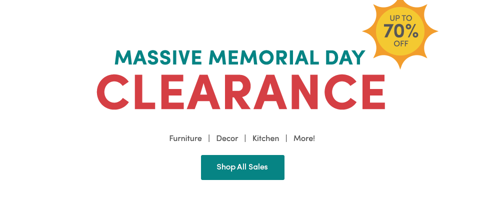 Memorial Day Clearance