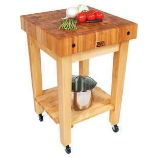 BoosBlock Prep Table with Butcher Block Top