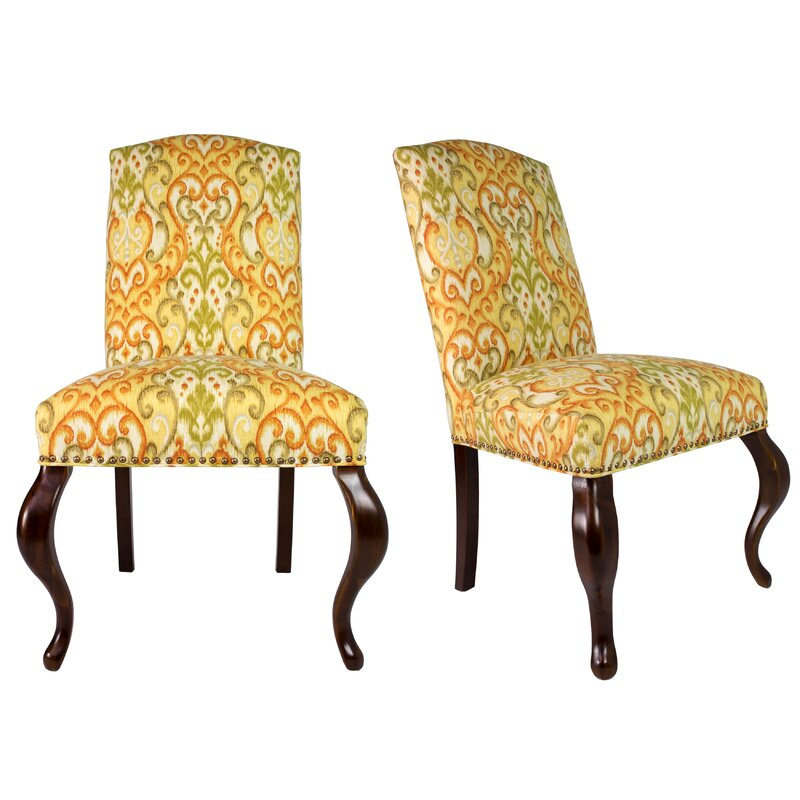 Best Price Queen Ann Spring Upholstered Side Chair Set Of