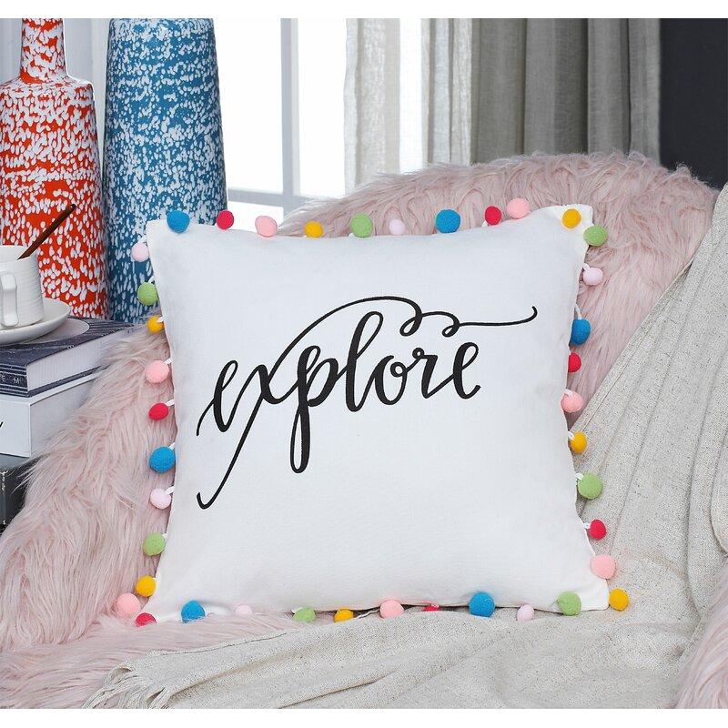 Winston Porter Walter Pom Pom Cotton Throw Pillow Wayfair