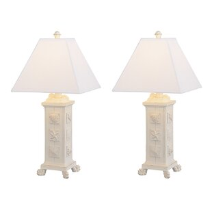 Highland Dunes Emmy Seashell Table Lamp (Set of 2)