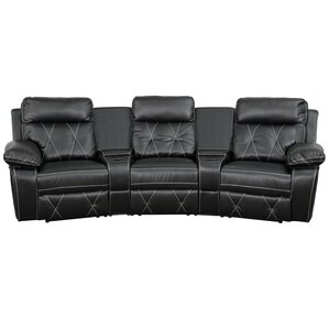 Leather Home Theater Recliner by Red Barrel Studio