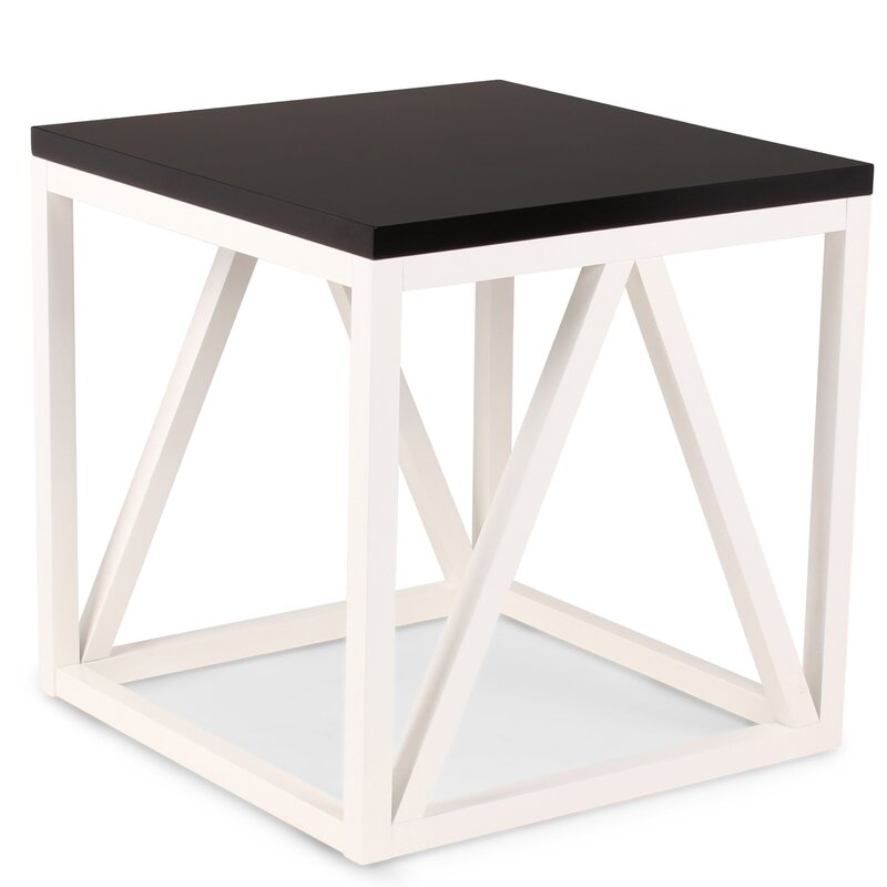 Dunstan Wood Cube End Table