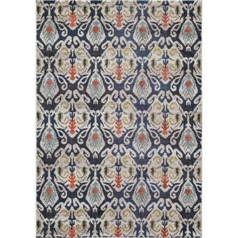 Alcott Hill Laney Sunset Hand Hooked Wool Blue Beige Area Rug Reviews Wayfair
