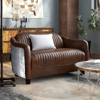 Analise Leather Loveseat by Modern Rustic Interiors SKU:DC486626 Guide