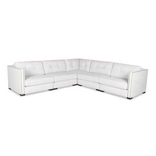 Timpson Buttoned L-Shape Modular Sectional