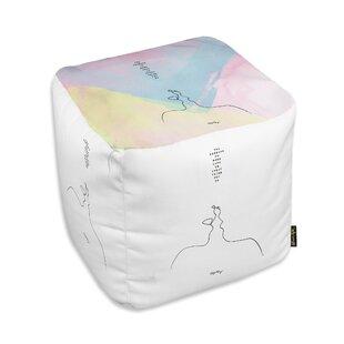 Akins Make Love Cube Ottoman by Ebern Designs