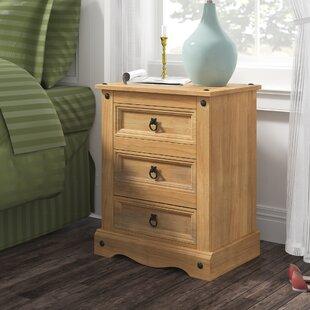 Deaver 3 Drawer Bedside Table By Alpen Home