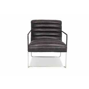 Brayden Studio Drees Leather Lounge Chair
