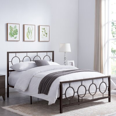 Wrought Studio Maxeys Queen Platform Bed Colour: Copper