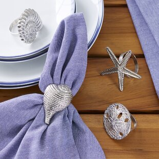 Silver Seashell Napking Rings (Set of 4)