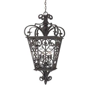 Mellen 4-Light Outdoor Hanging Lantern by Three Posts