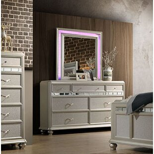 Rosdorf Park Drage 7 Drawer Dresser with Mirror