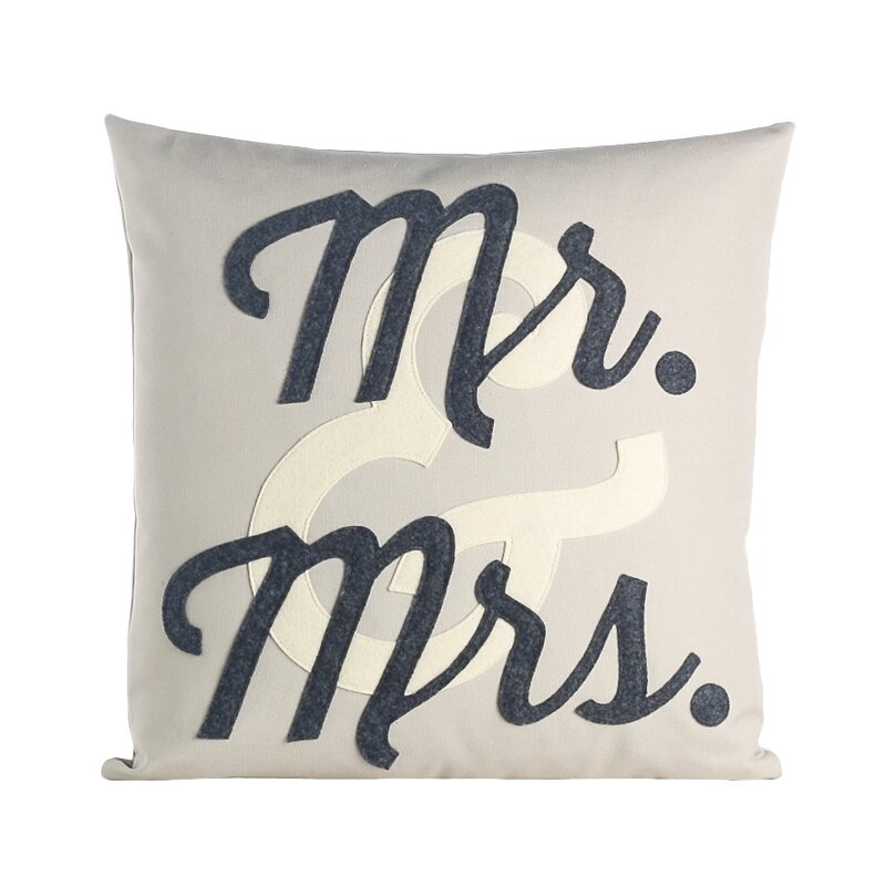 Alexandra Ferguson Flirt Mr And Mrs Throw Pillow Wayfair Beauteous Mr And Mrs Decorative Pillows