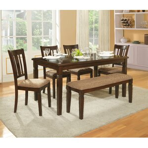 Lansdowne 6 Piece Dining Set by Alcott Hill