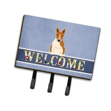 Bull Terrier Welcome Leash or Key Holder by Caroline's Treasures