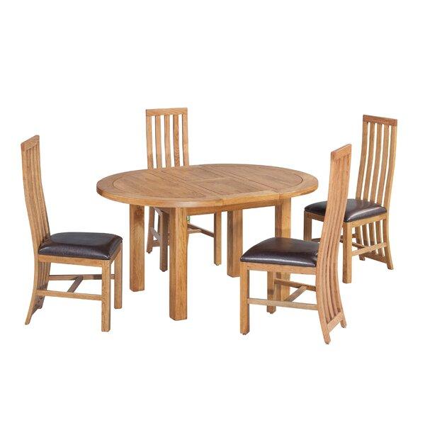Loon Peak Arreola 5 Piece Extendable Solid Wood Dining Set Wayfair