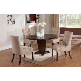 Tory 5 Piece Solid Wood Modern Dining Set DarHome Co