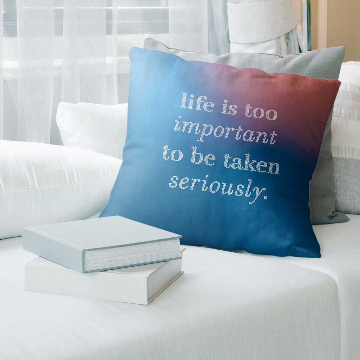 East Urban Home Handwritten Life Levity Quote Pillow Cover Wayfair