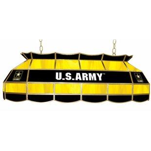 Trademark Global U.S. Army 3-Light Tiffany Billiard Light