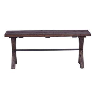 Gracie Oaks Gillan Wood Bench