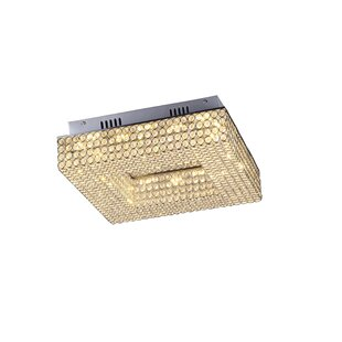 Everly Quinn Giancola 2-Light LED Flush Mount