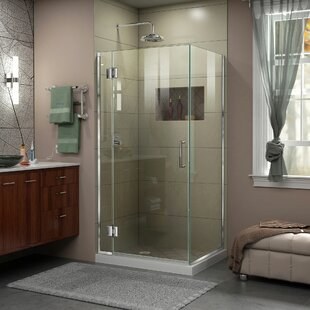DreamLine Unidoor-X 33 3/8 in. W x 30 in. D x 72 in. H Frameless Hinged Shower Enclosure
