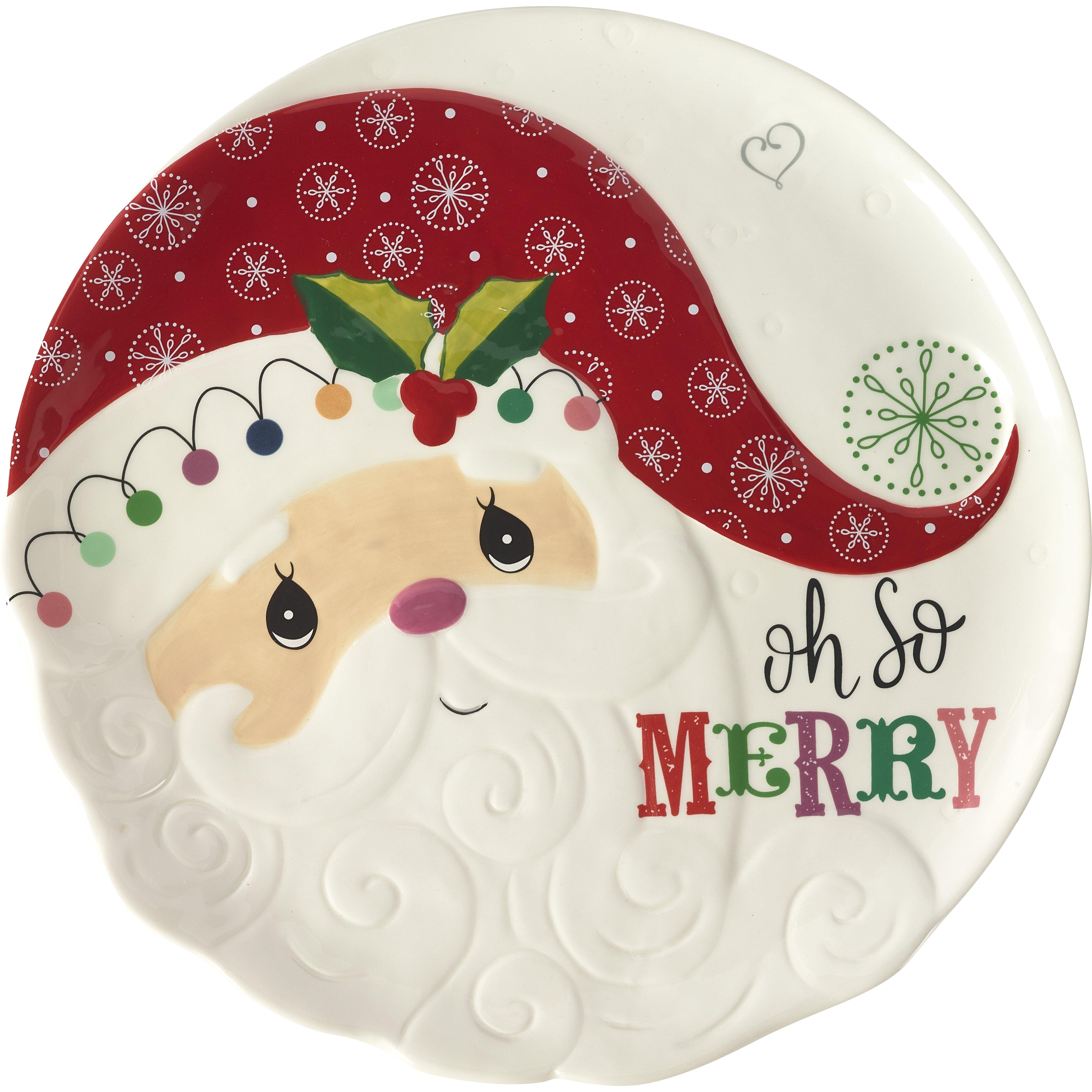 Precious Moments Oh So Merry Round Santa Serving Platter Wayfair