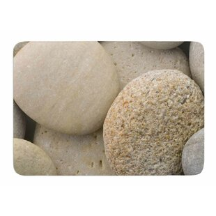 River Stones by Susan Sanders Bath Mat