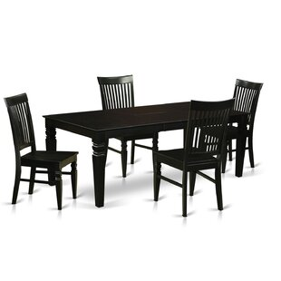 Beesley 5 Piece Black Dining Set
