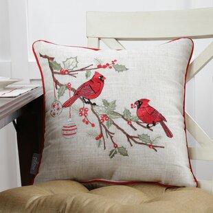 Simpson Christmas Cardinal Throw Pillow