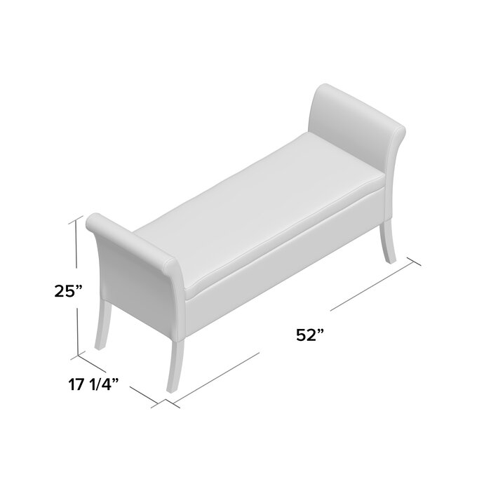 Remarkable Borel Armed Solid And Manufactured Wood Storage Bench Ocoug Best Dining Table And Chair Ideas Images Ocougorg
