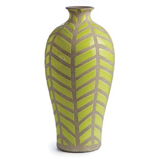 Miranda Green/Gray Ceramic Table Vase