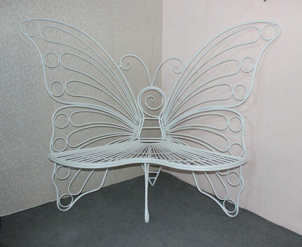 Winston Porter Balsam Butterfly Metal Garden Bench