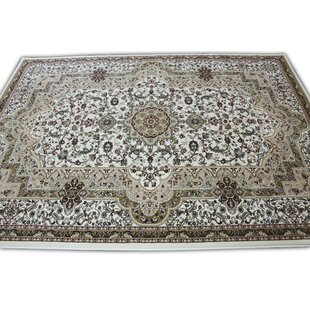 Mona Lisa Ivory/Green Area Rug By Rug Factory Plus