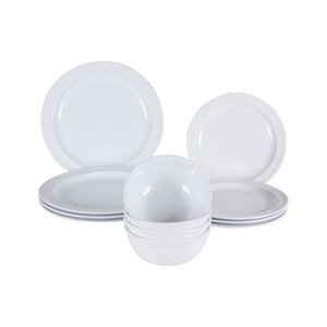 Middleton Melamine 12 Piece Dinnerware Set, Service for 4