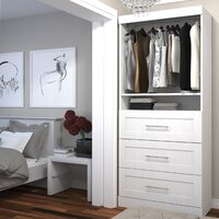 Deals on Beachcrest Home Navarro 35.8-inch W Closet System