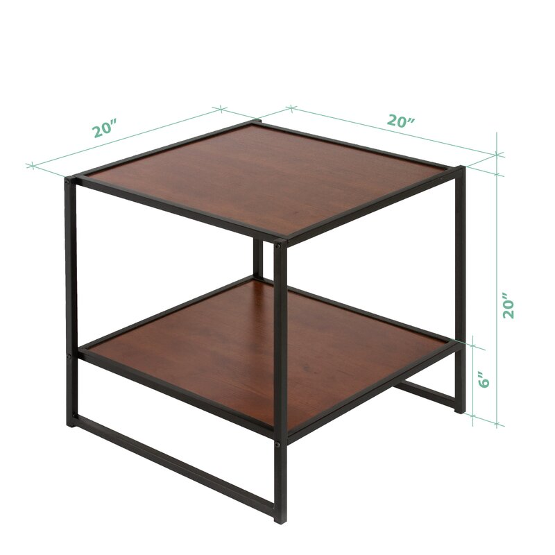 Avey Set Of Two 20 Inch Square Side Tables Night Stands