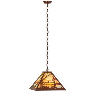 Meyda Tiffany Quiet Pond 3-Light Pool Table Light