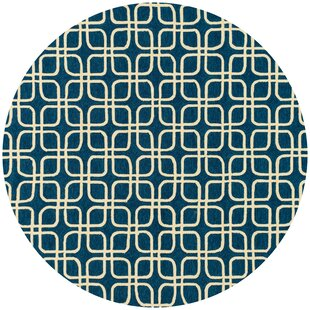 Danko Hand-Hooked Blue/Ivory Indoor/Outdoor Area Rug