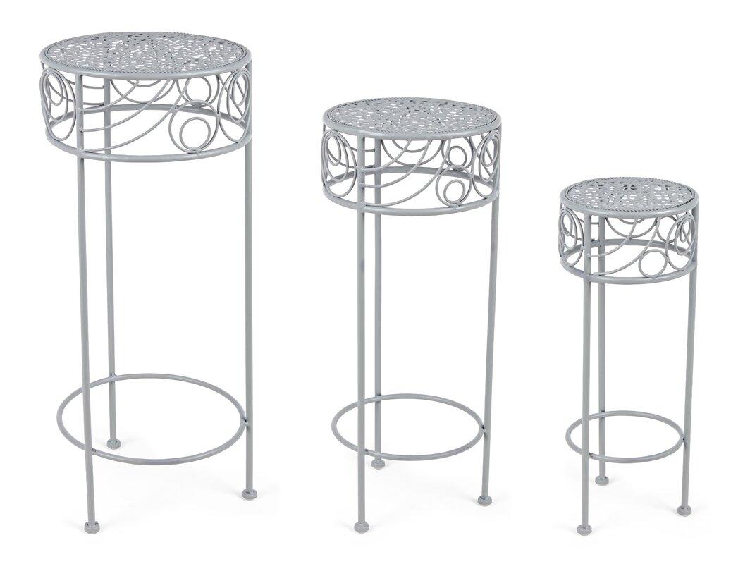 Lily Manor 3-tlg. Blumensäulen-Set Nessa (Set besteht aus 2)
