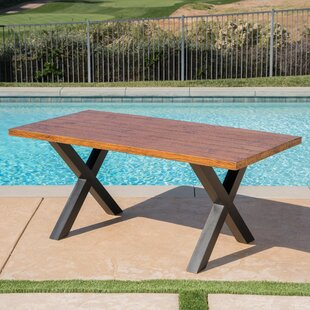 La Mott Stone/Concrete Dining Table by Gracie Oaks