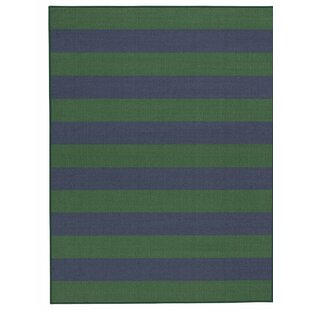 Wiegand Navy Green Area Rug